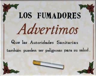 Los fumadores advierten…