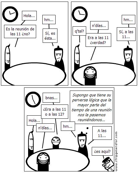Reuniéndose